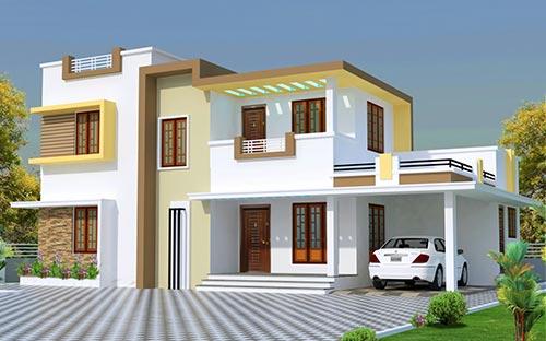 Villa Projects, Residential Building Construction in Kollam, Kerala